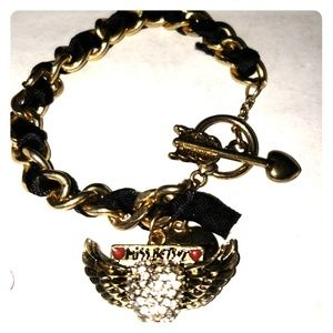 Betsey  Johnson winged bracelet